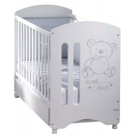 Кровать Micuna Sweet Bear White с матрацем CH-620