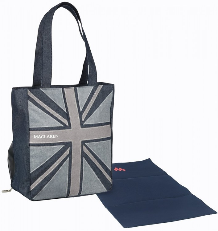 Сумка для мамы Maclaren Magazine Tote Denim Flag